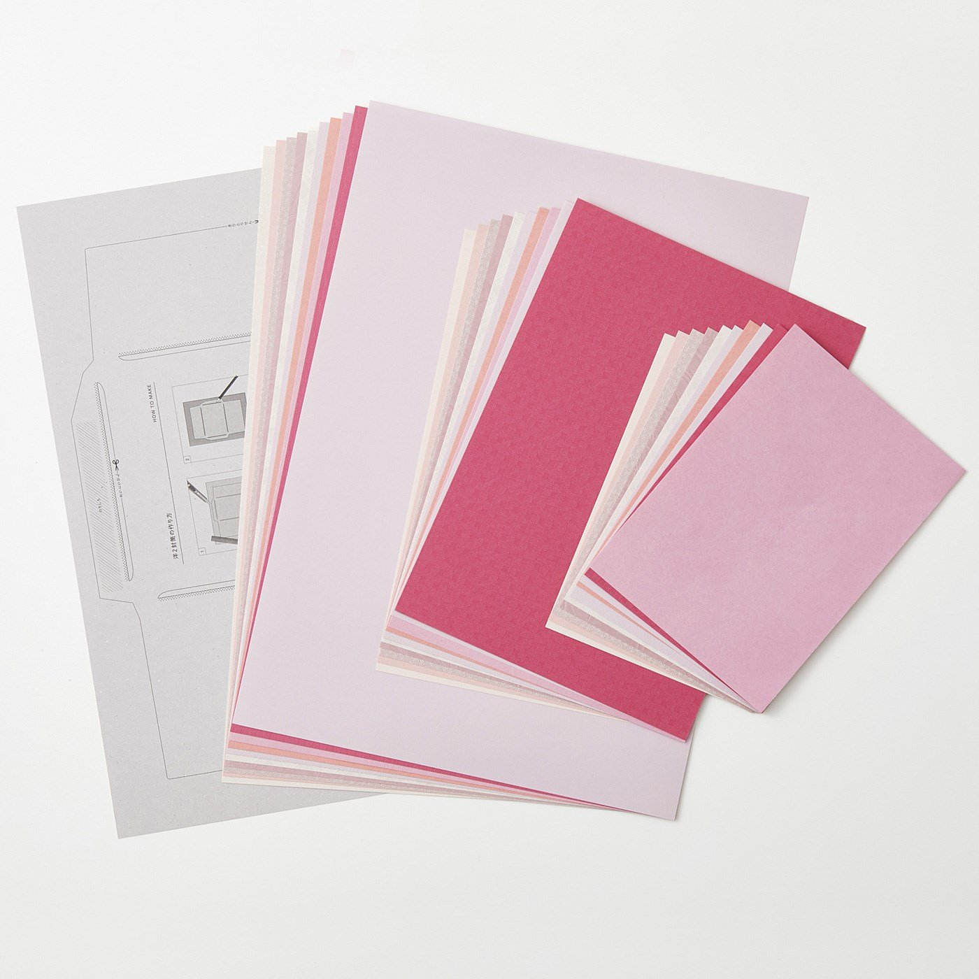 OSYAIRO 紙の専門商社竹尾が選ぶ 色を楽しむ紙セットの会〈桃〉