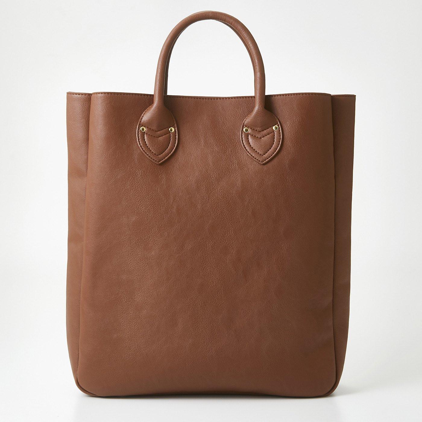 OSYAIRO カラーを楽しむ 大きな内ポケット付きビッグトートバッグ〈イエロー〉