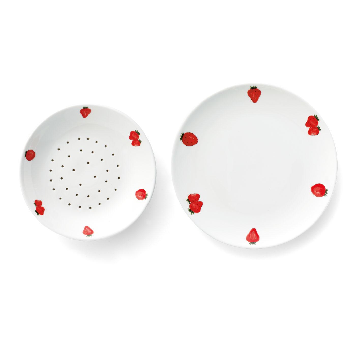 穴あき皿: 直径約19.5cm 受け皿: 直径約23cm