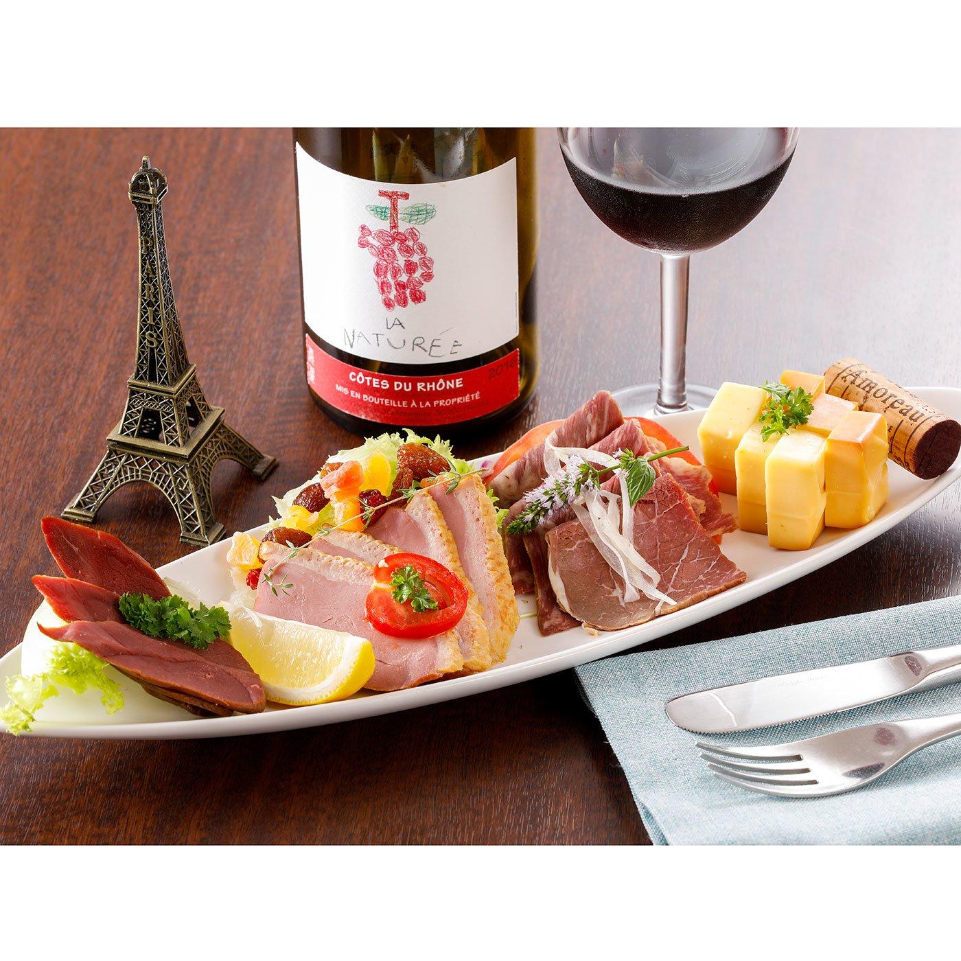 赤ワインにおすすめ濃厚な味わい燻製おつまみセット