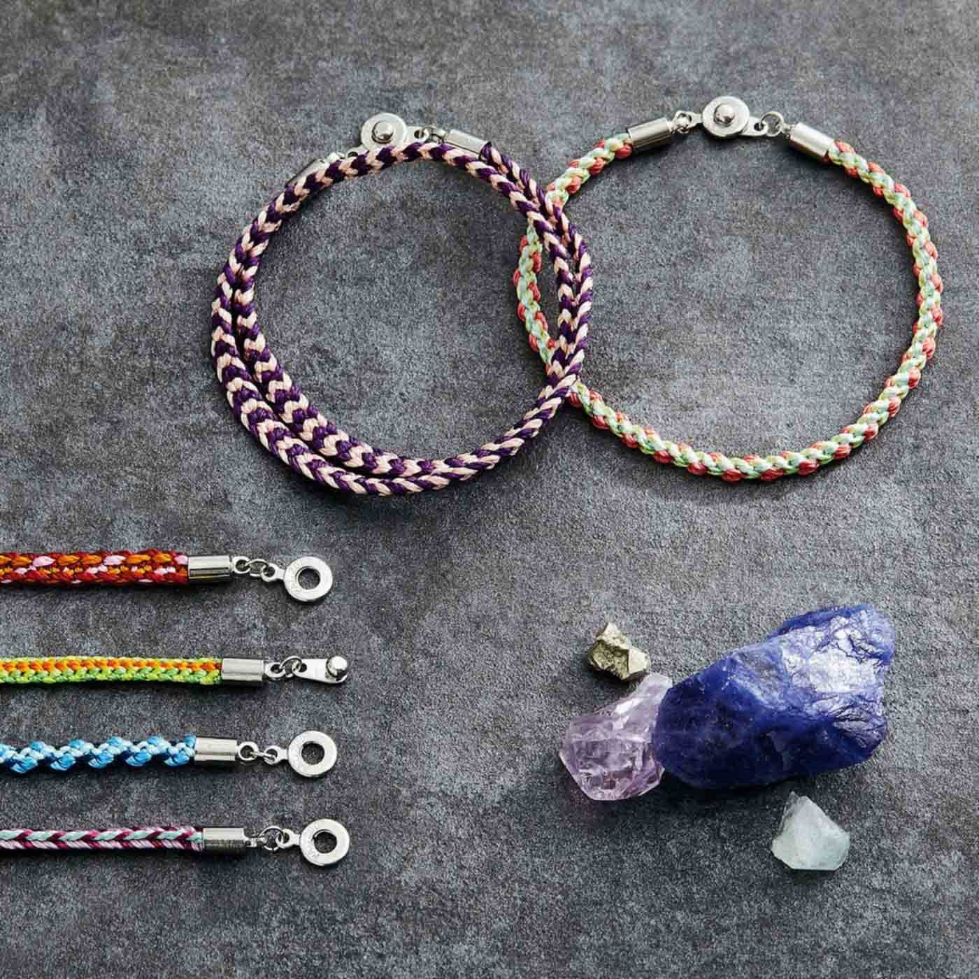 いにしえの優美な模様 絹糸で組む くみひもブレスレットの会