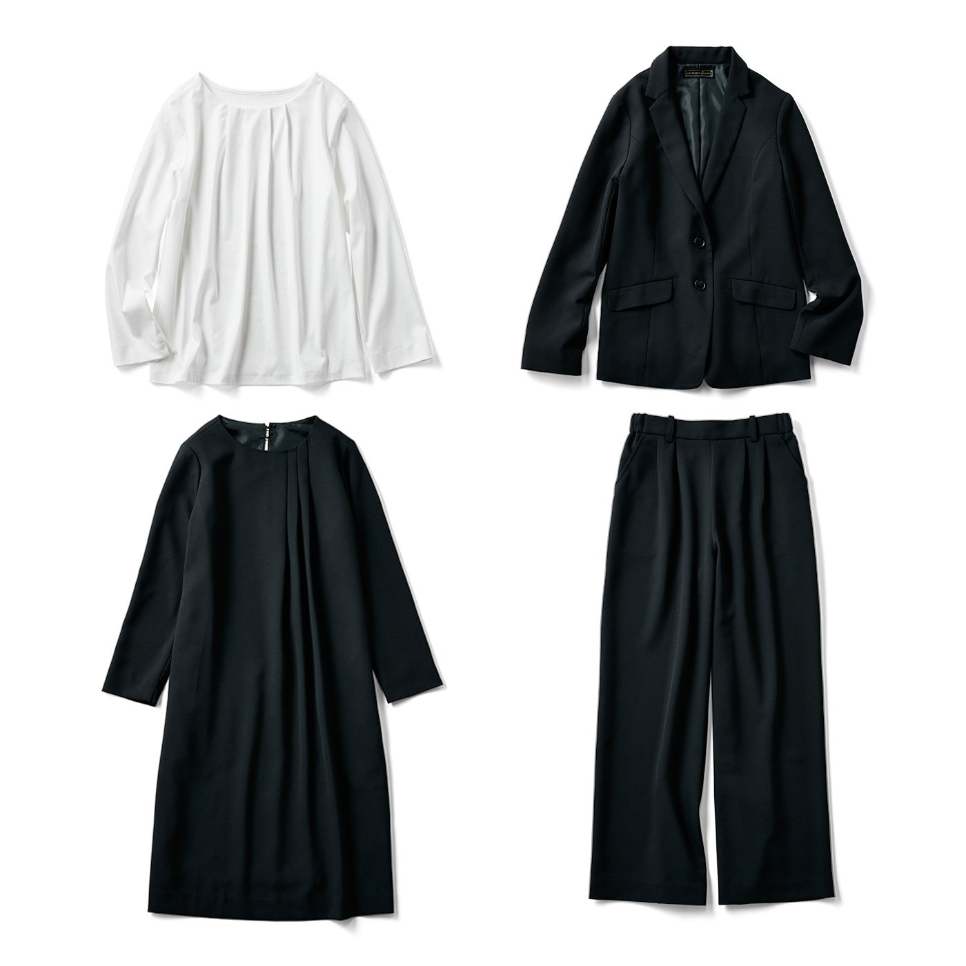 IEDIT[イディット] 上品に着まわせる迷わず使える4点セット〈ブラック〉