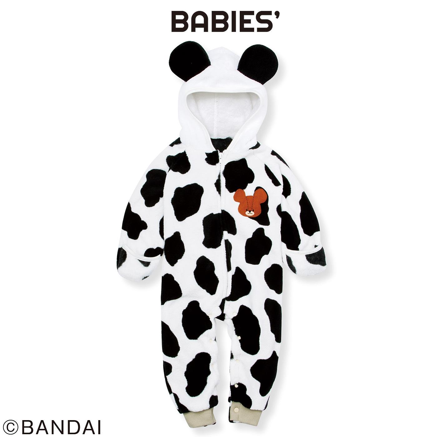 フェリシモ くまのがっこう ミルクちゃんの着ぐるみフリースカバーオール〈ベビー〉
