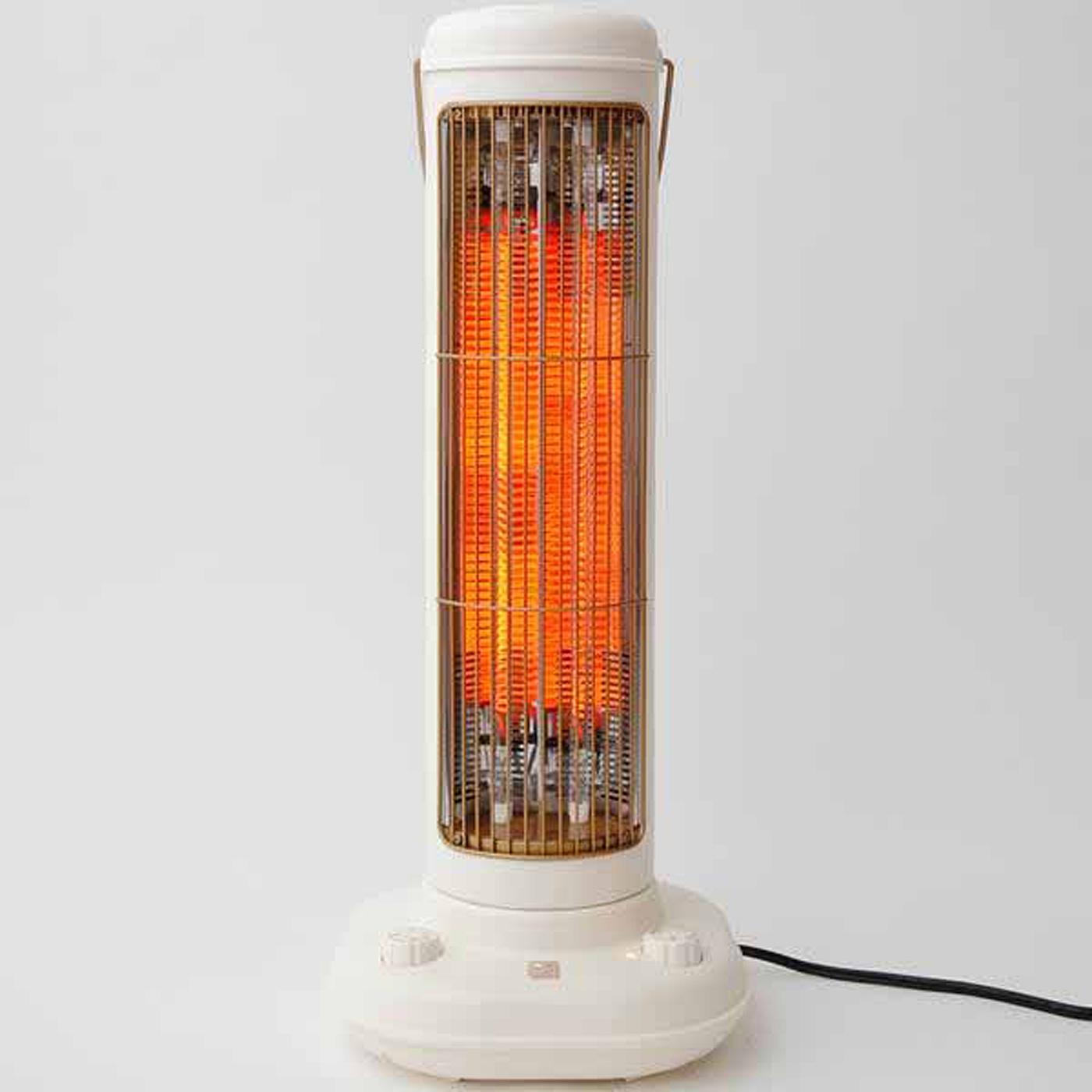 速暖10秒! スイッチオンした瞬間、ファンが起動。温風で広範囲に熱を送ります。