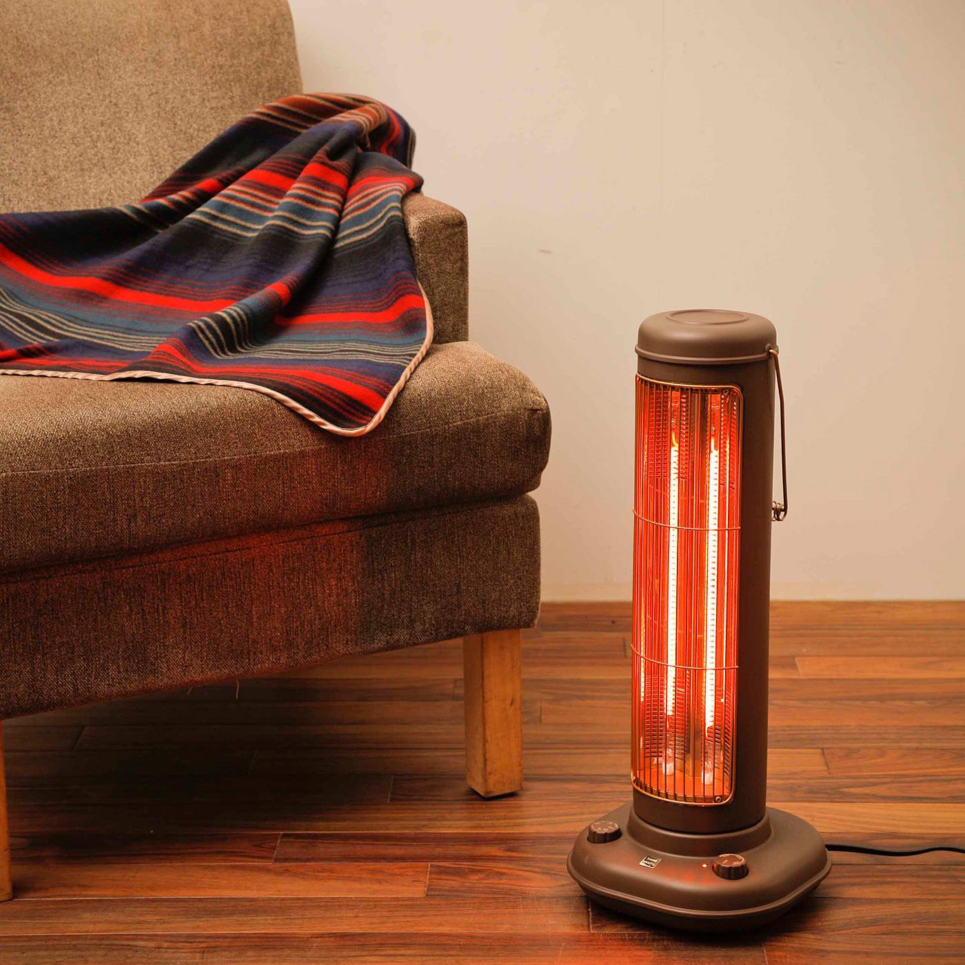 ダイヤル式スイッチで500~1000Wまで、ちょうどいい暖かさに簡単調節。