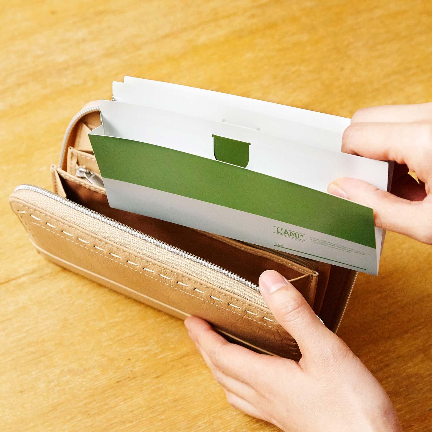 お手持ちの財布にインするだけ! 好きな数だけ連結できます。