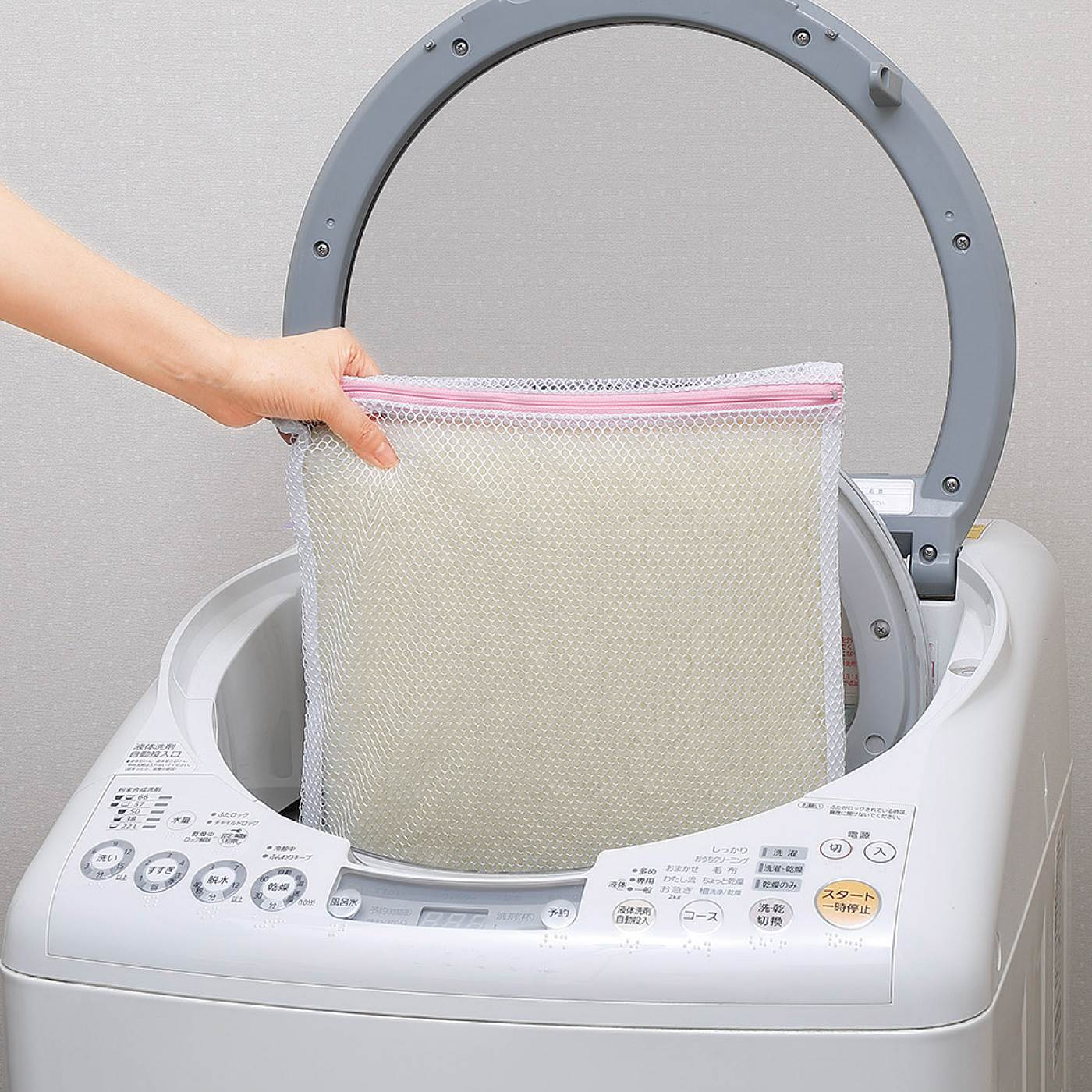 洗濯機で丸洗いOK。洗っても吸着効果はそのまま!