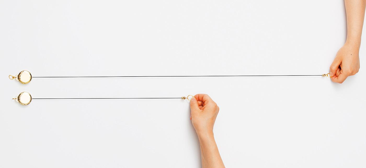 鍵に付けるリールの長さは通常の倍の約80cm ※当社比