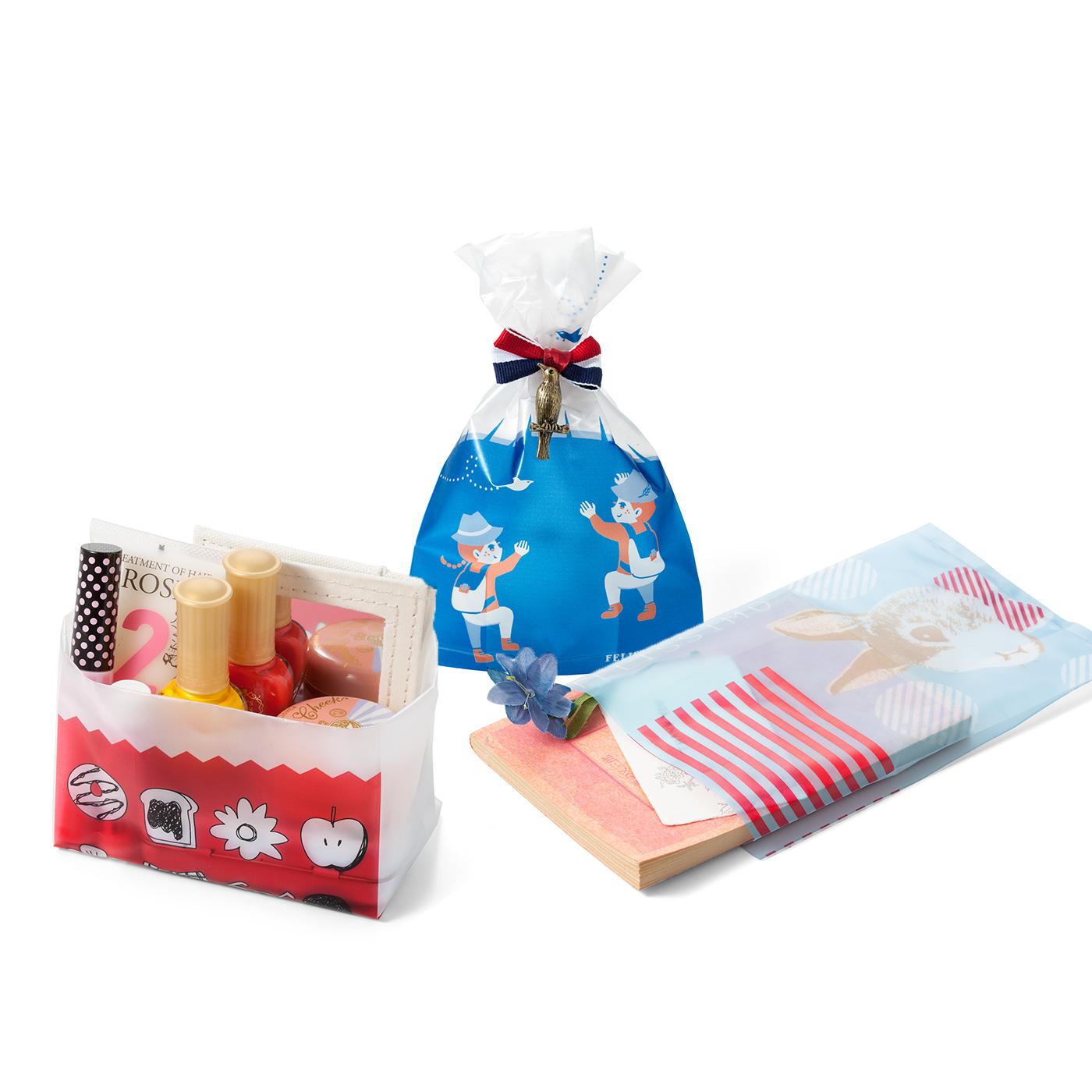 化粧品や小物の収納に! ちょっとしたプレゼントにはリボンをつけて。バレンタインやクリスマスにも活躍。 文庫本にもぴったり! きもちを添えて借りていた本をお返し。