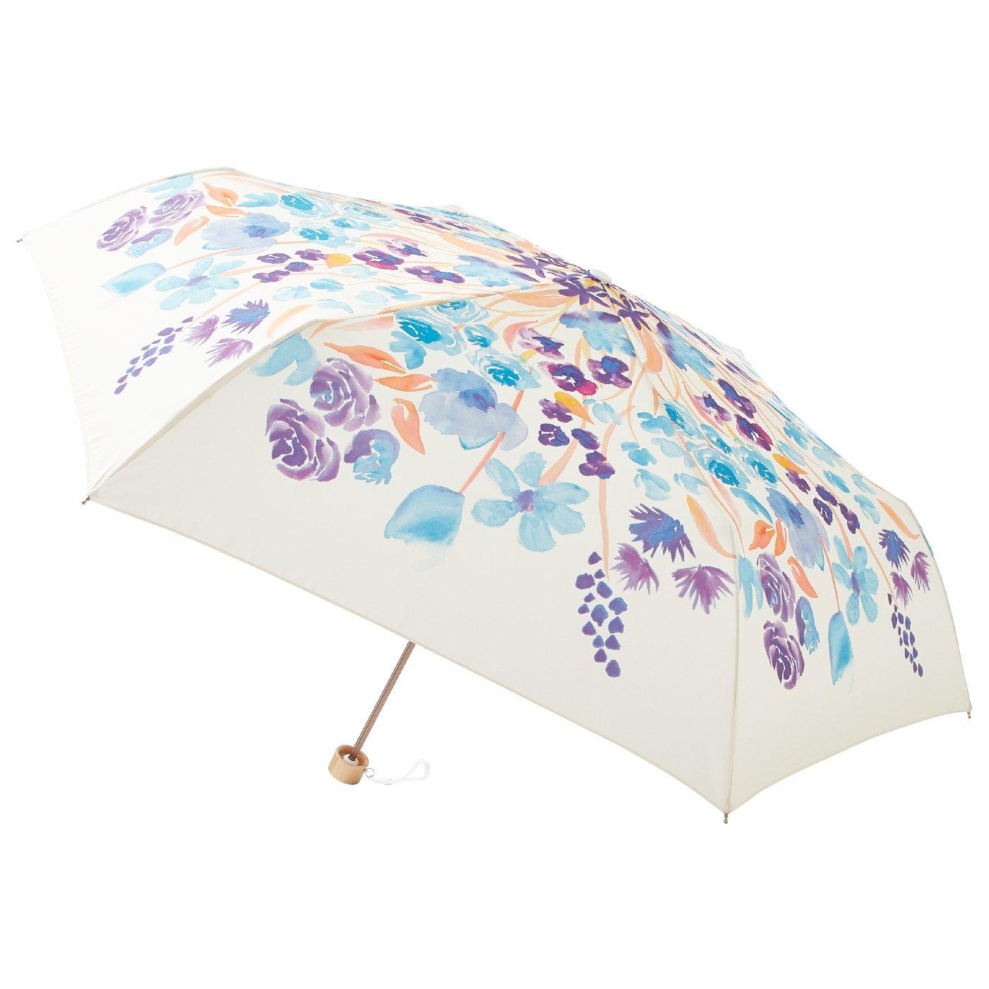 晴雨兼用 UV防止 装いに華を添える estaa / エスタ 『花束』 折りたたみ雨傘