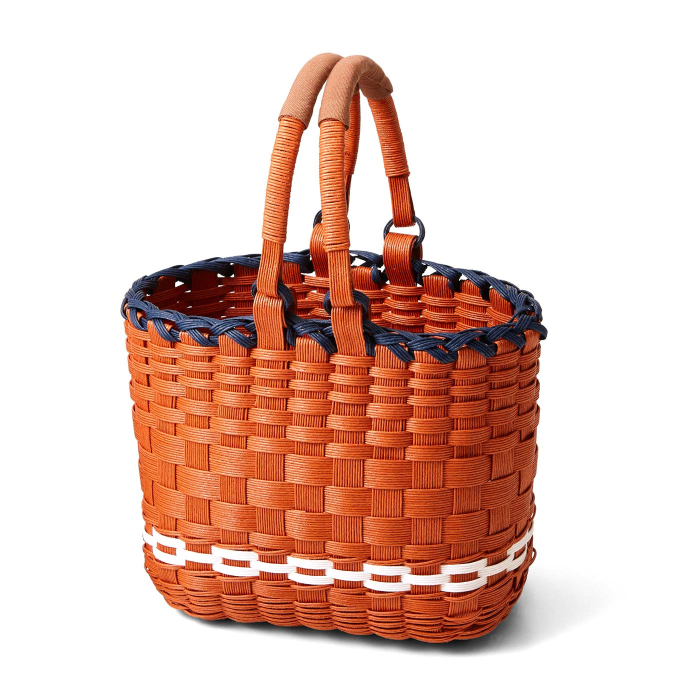 ころんとしてかわいい ピクニックバッグ 縦約18cm,横約21cm、まち幅約13cm