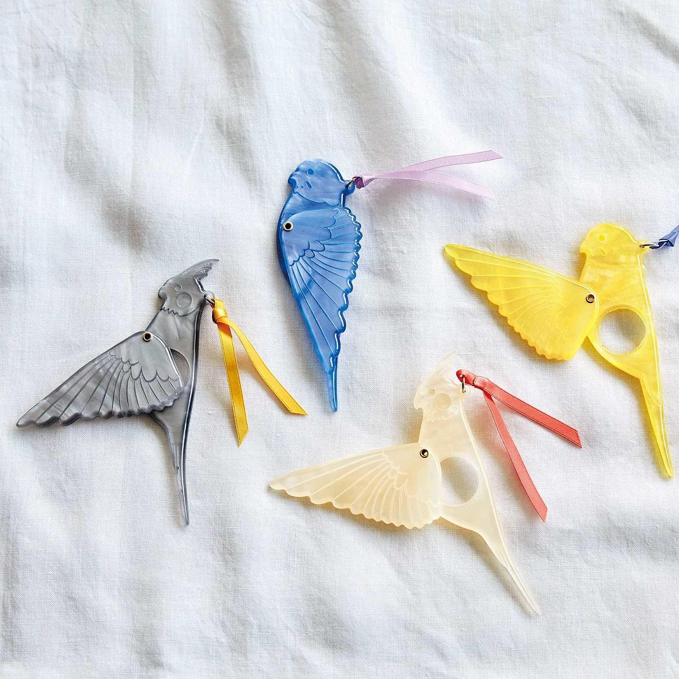 小鳥部 細かい文字にかわいいサポート スサーッと翼を広げる 小鳥のマスコットルーペの会