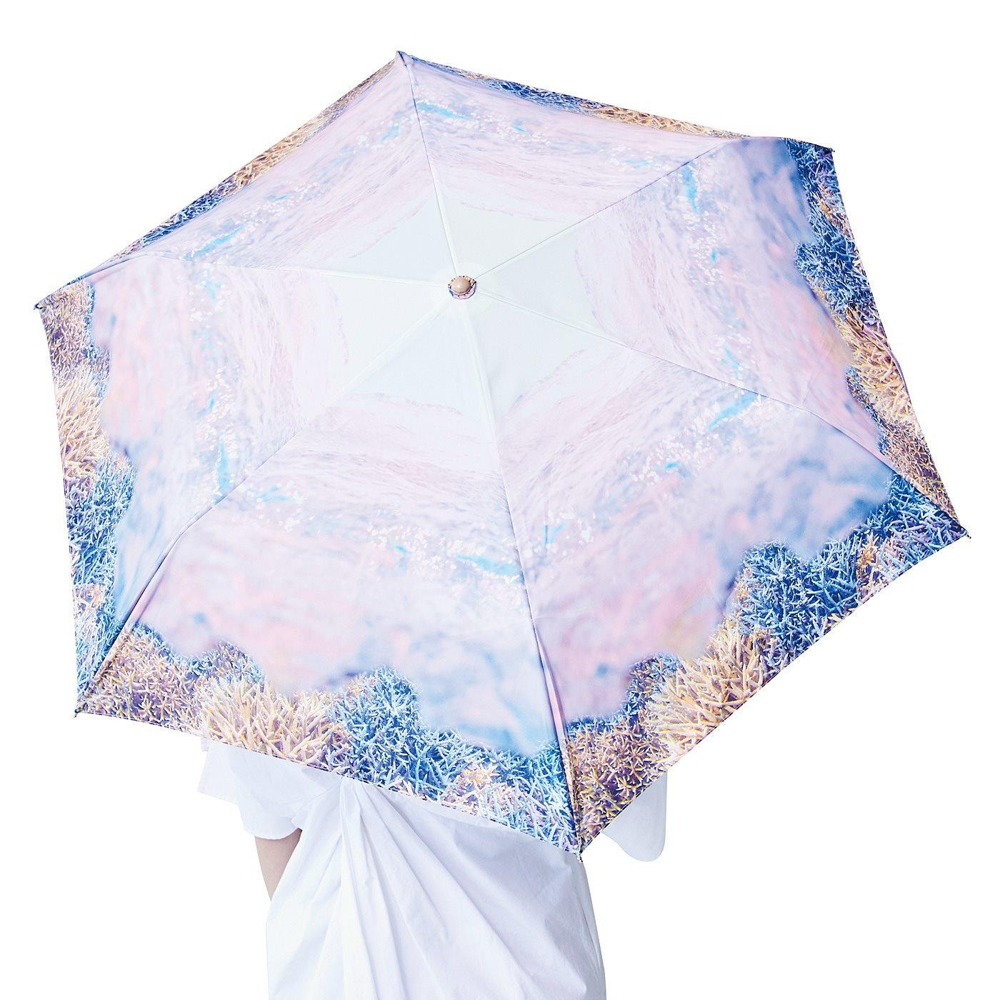 海とかもめ部 海とお出かけ 晴雨兼用傘〈サンゴ〉