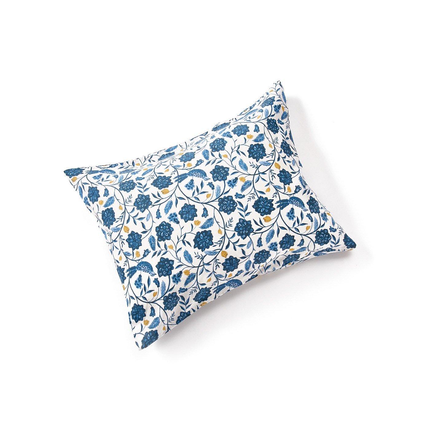 am&be 暮らしに華を添える アンティークフラワーのダブルガーゼ枕カバー