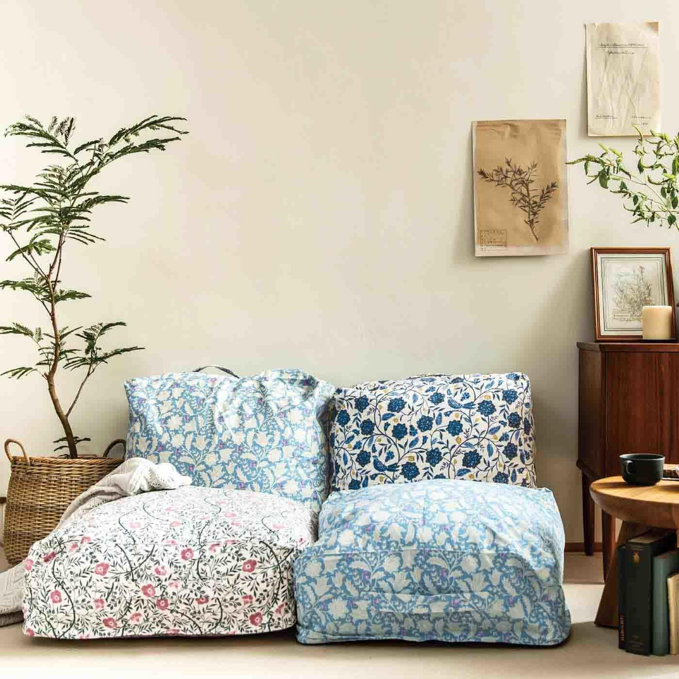 am&be 暮らしに華を添える アンティークフラワーのクッションになる布団収納ケースの会