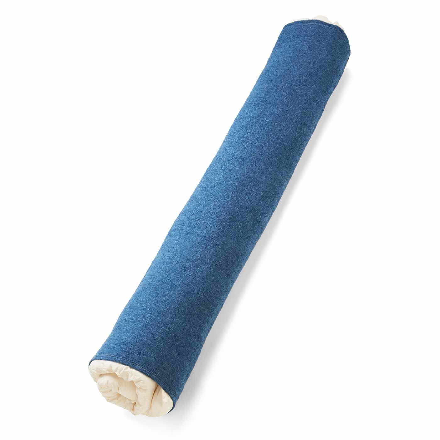 のびのびパイルの 布団収納抱き枕カバー〈インディゴブルー〉