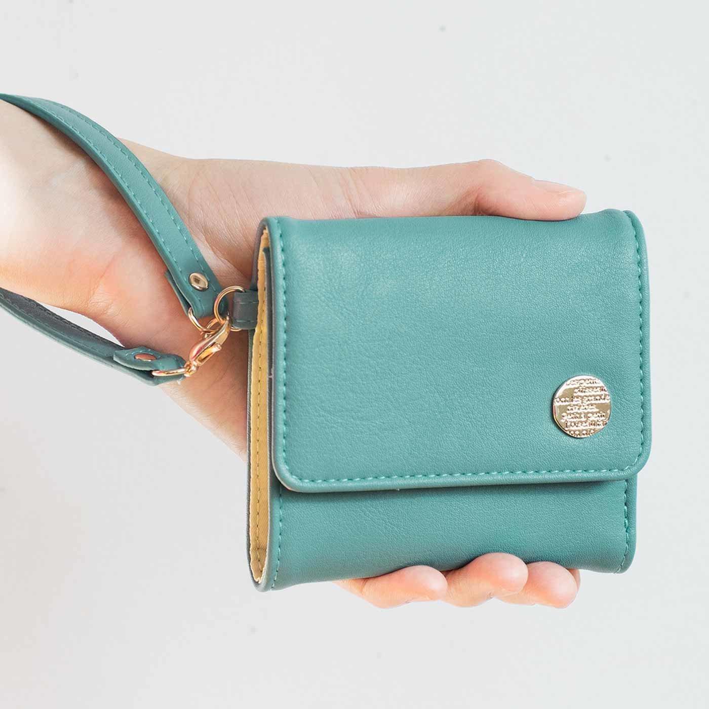 幸運を呼ぶミントグリーン 大人かわいい手のり財布