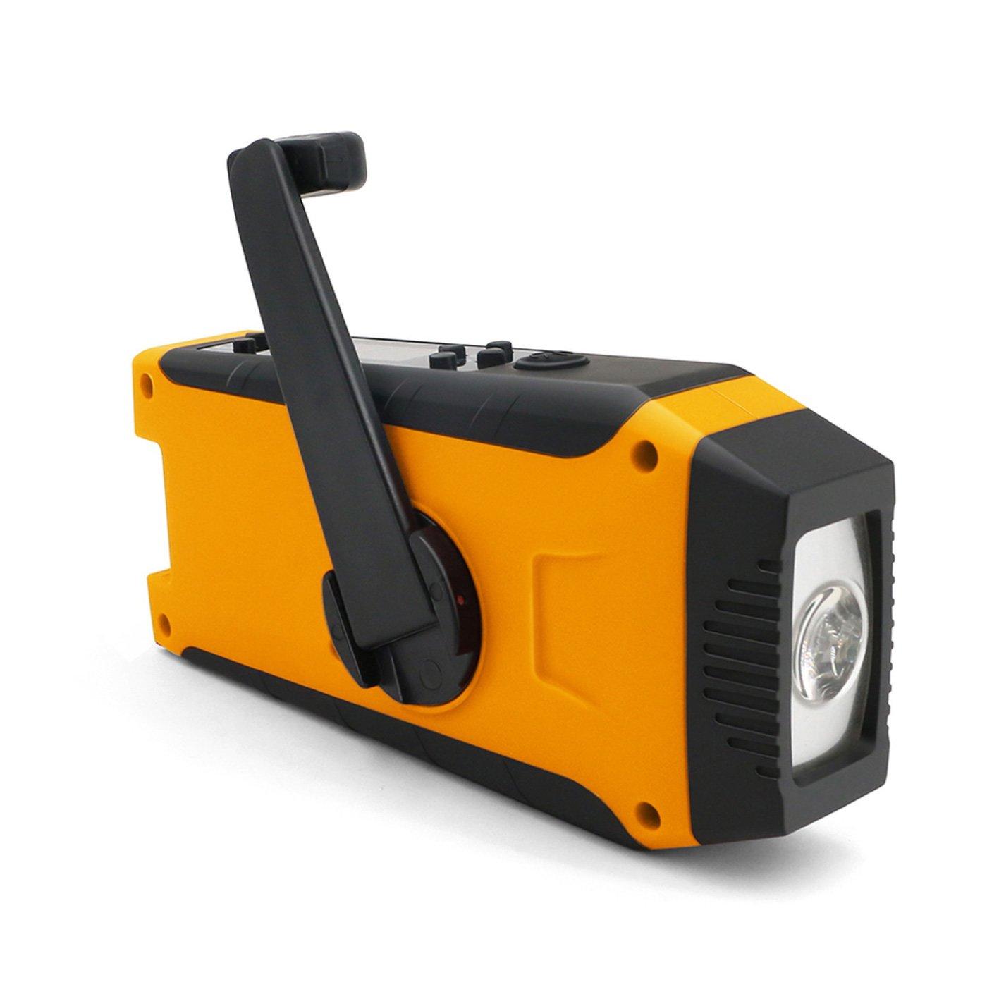 スマホの充電もできる 一台5役の防災ラジオライト
