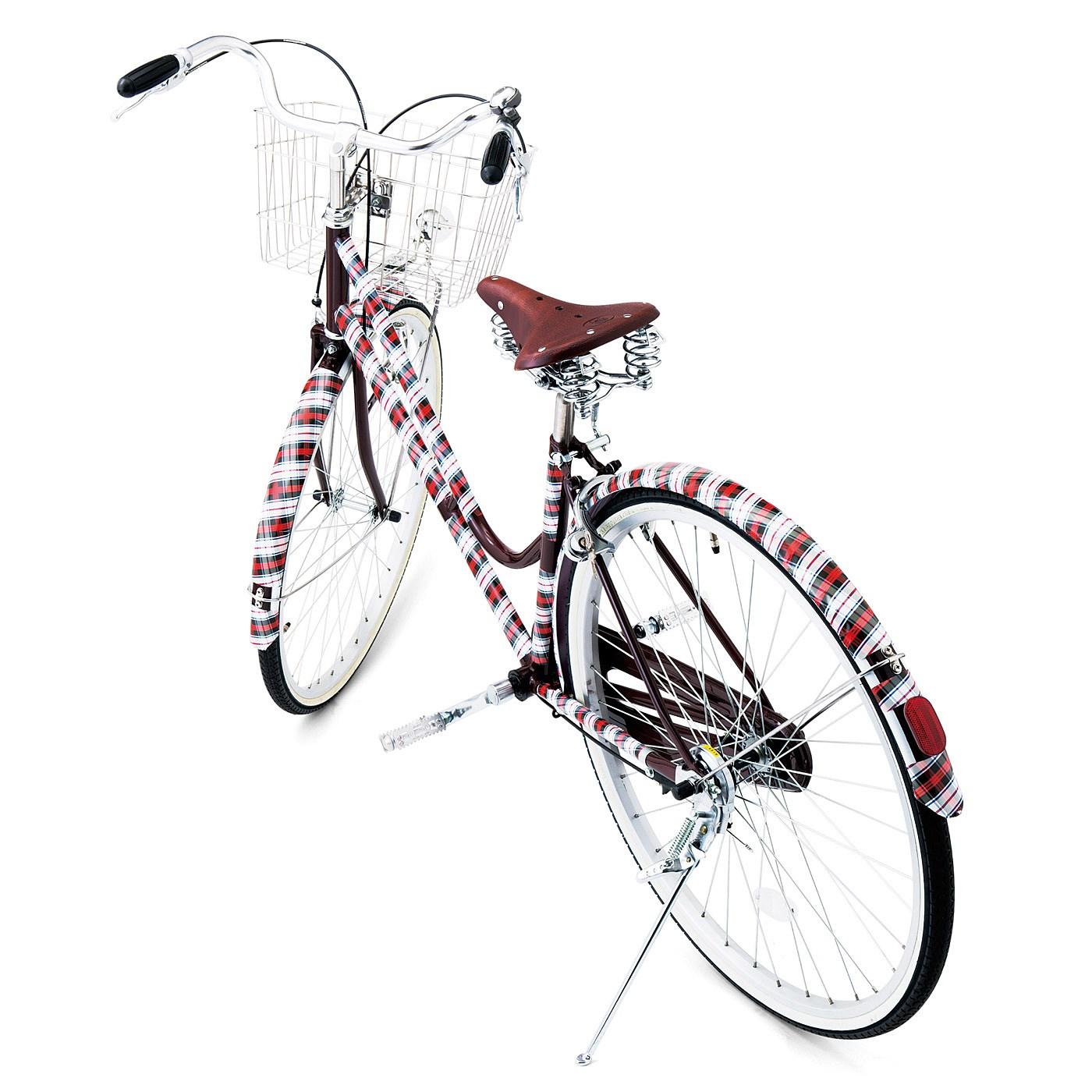 汚れが目立たずおしゃれに! 駐輪場でも、マイ自転車がすぐ発見できそう!