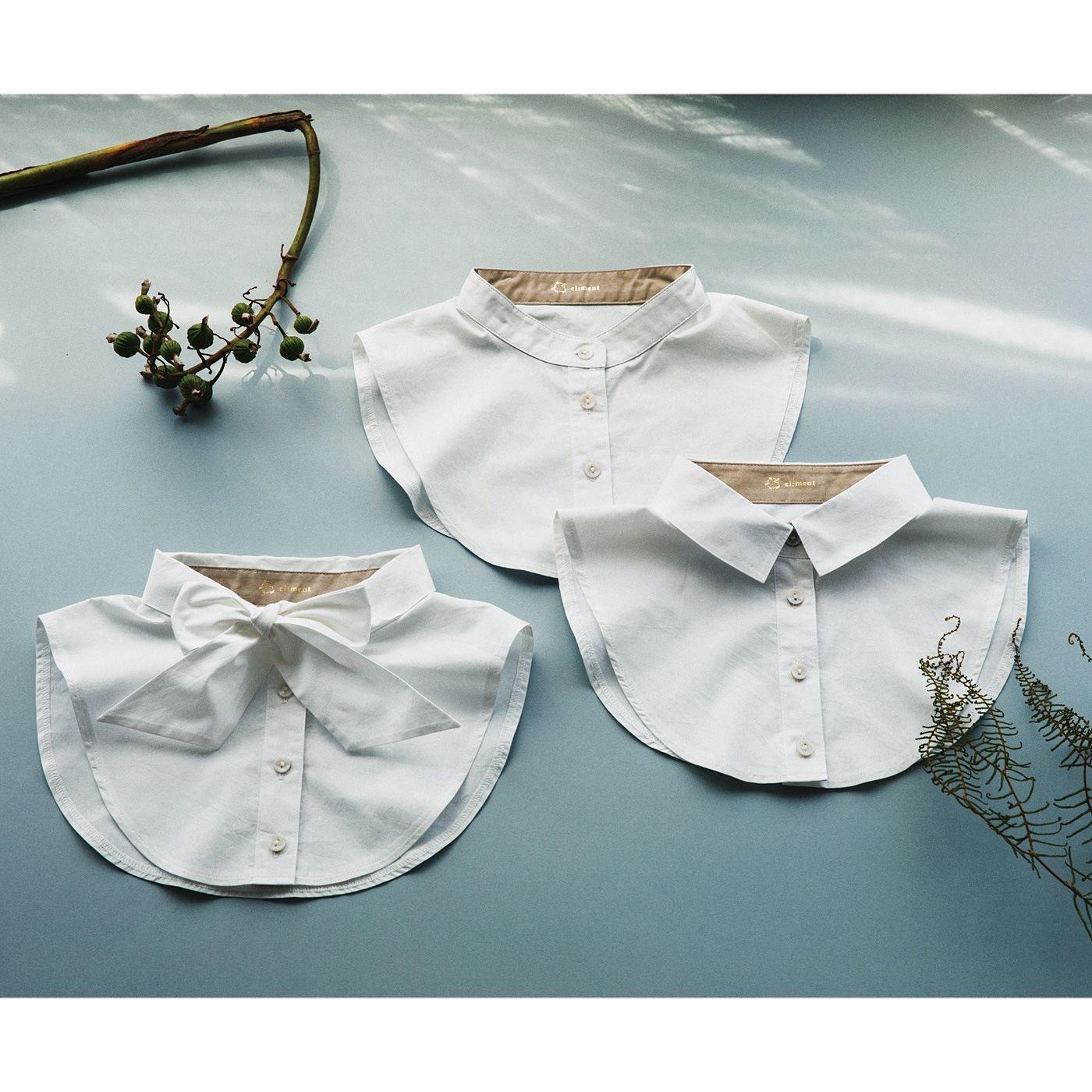 el:ment 手持ちの服をもっと楽しめる コットン生地のきちんと付け衿の会