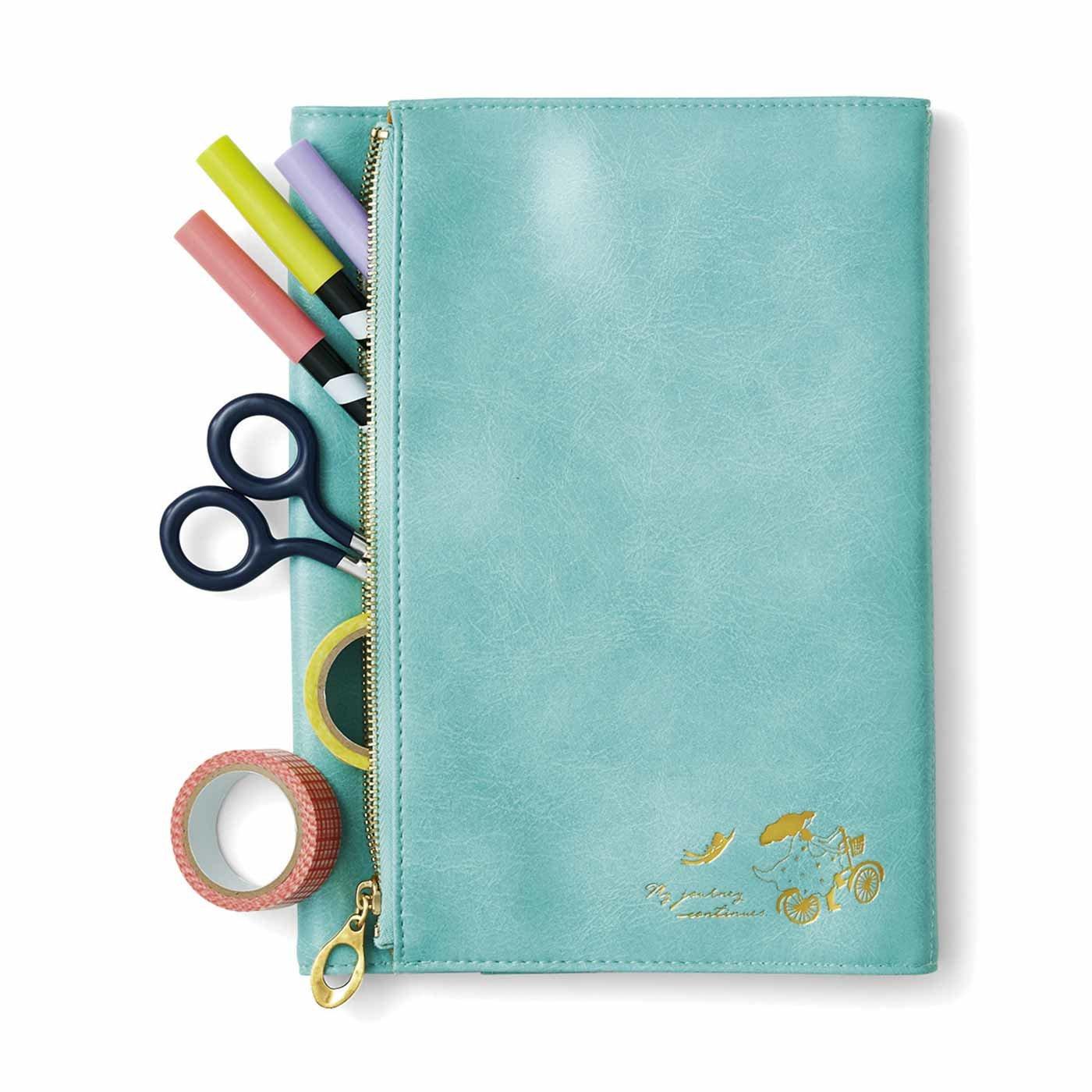 HAPPY DIARY(ハッピー ダイアリー) 幅広ポケットで収納おまかせ スケジュール帳カバー