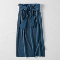 <フェリシモ>MEDE19F ノットディテールリップルスカート〈ブルー〉【送料無料】
