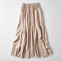 <フェリシモ>MEDE19F マキシ丈のボリュームスカート〈ピンクベージュ〉【送料無料】