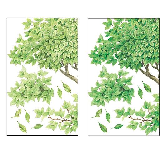 """※同じデザインの色違いも届きます。重ねて貼ることで""""森""""の奥行きを楽しんでください。"""