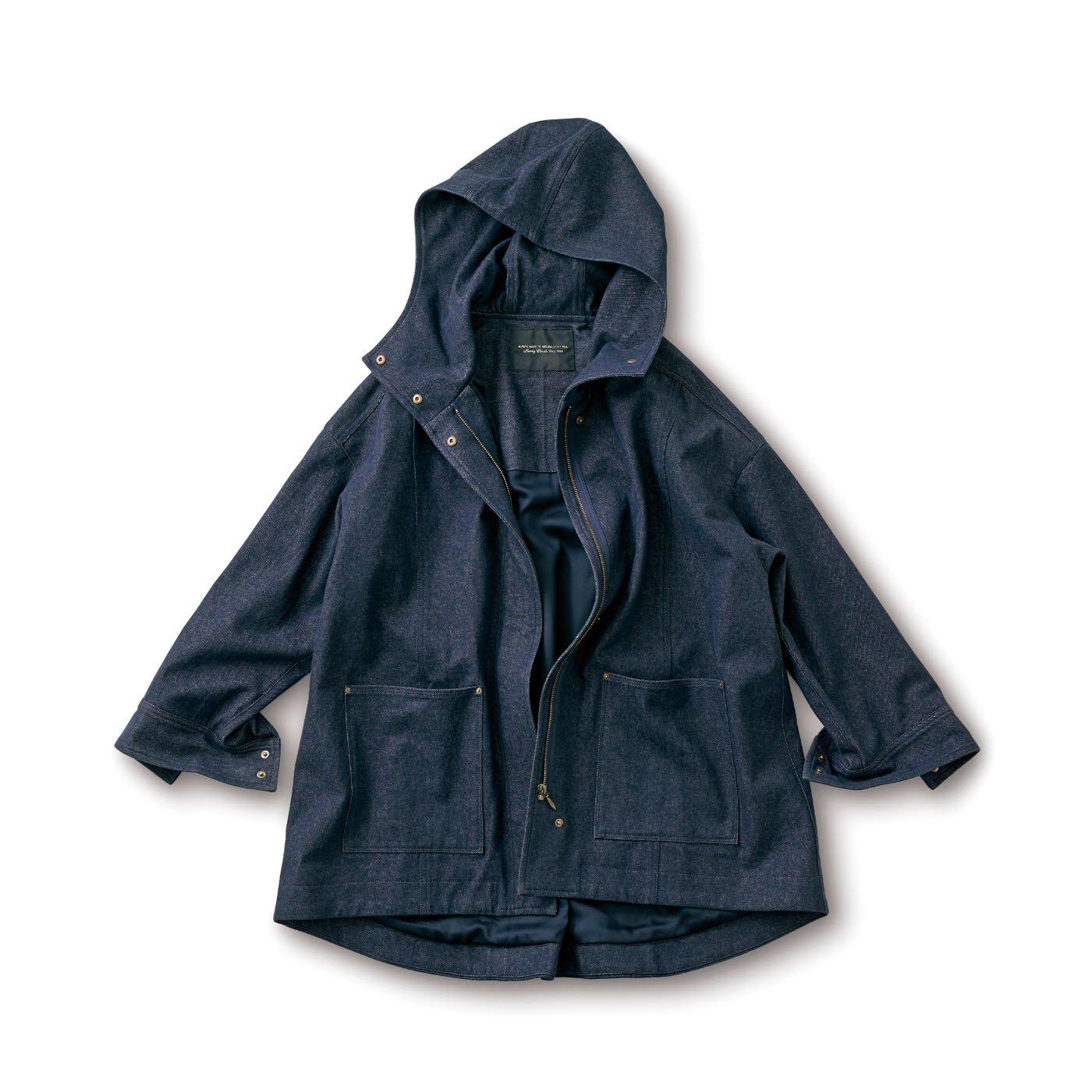 SUNNY CLOUDS デニム風味のハーフコート〈レディース〉