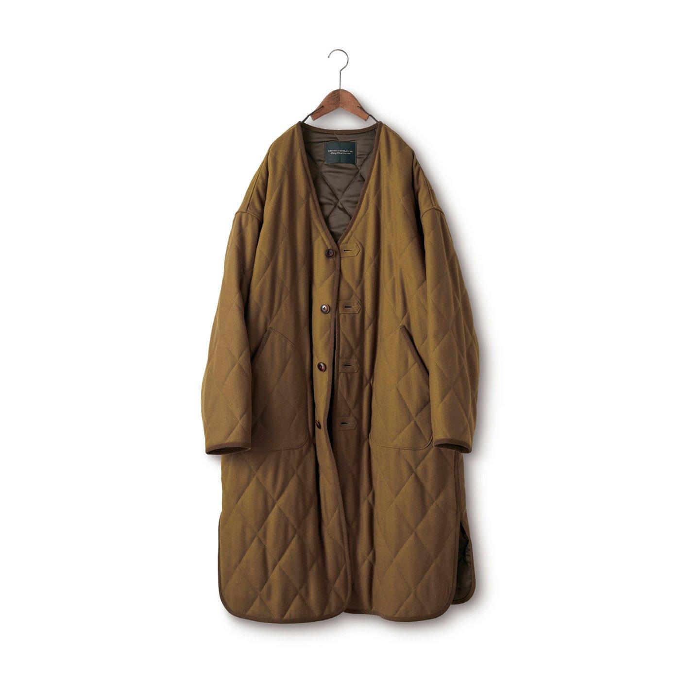SUNNY CLOUDS ウールキルティングコート〈メンズ〉