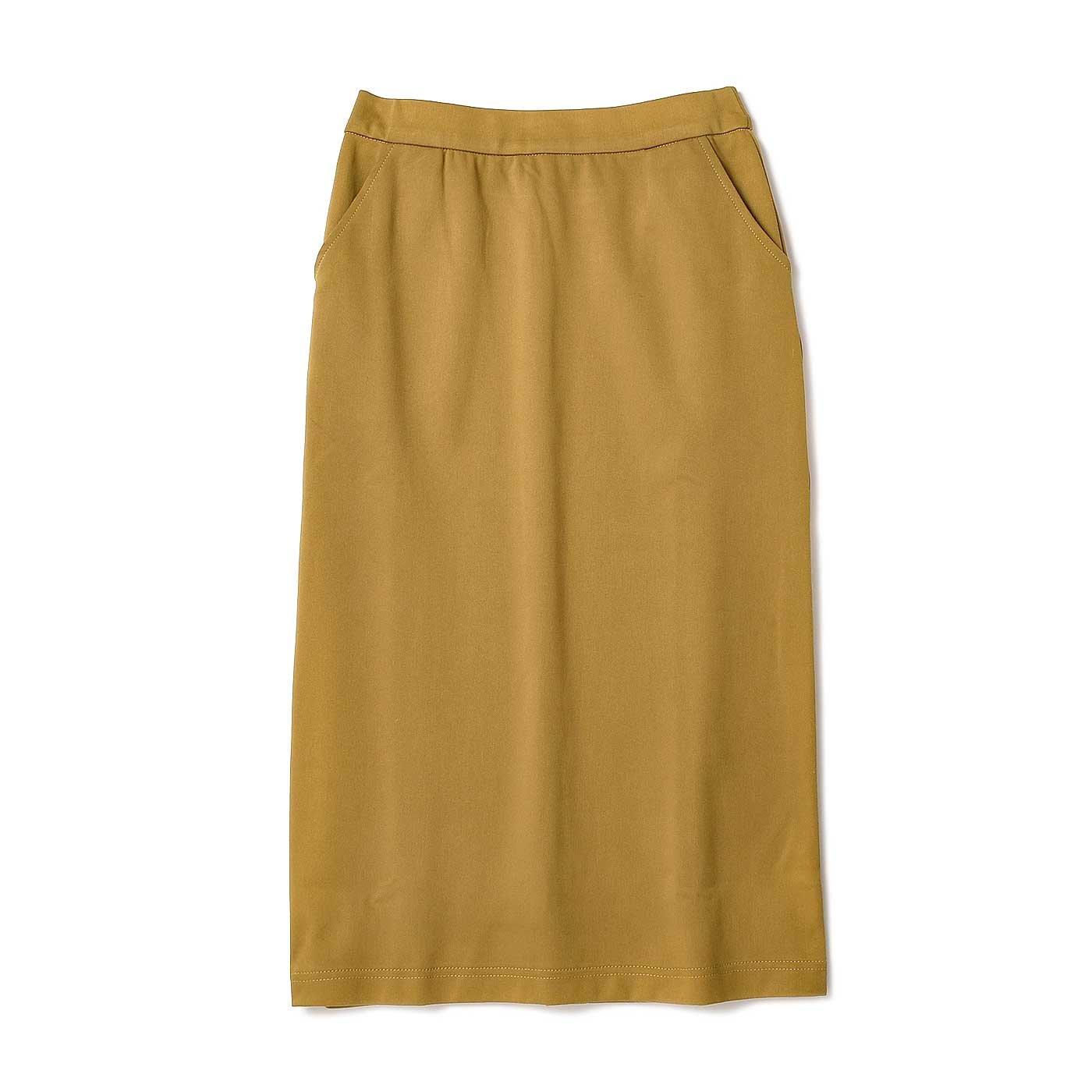 リブ イン コンフォート はき心地抜群! 毎日ボトムス きれい色スカート〈マスタード〉