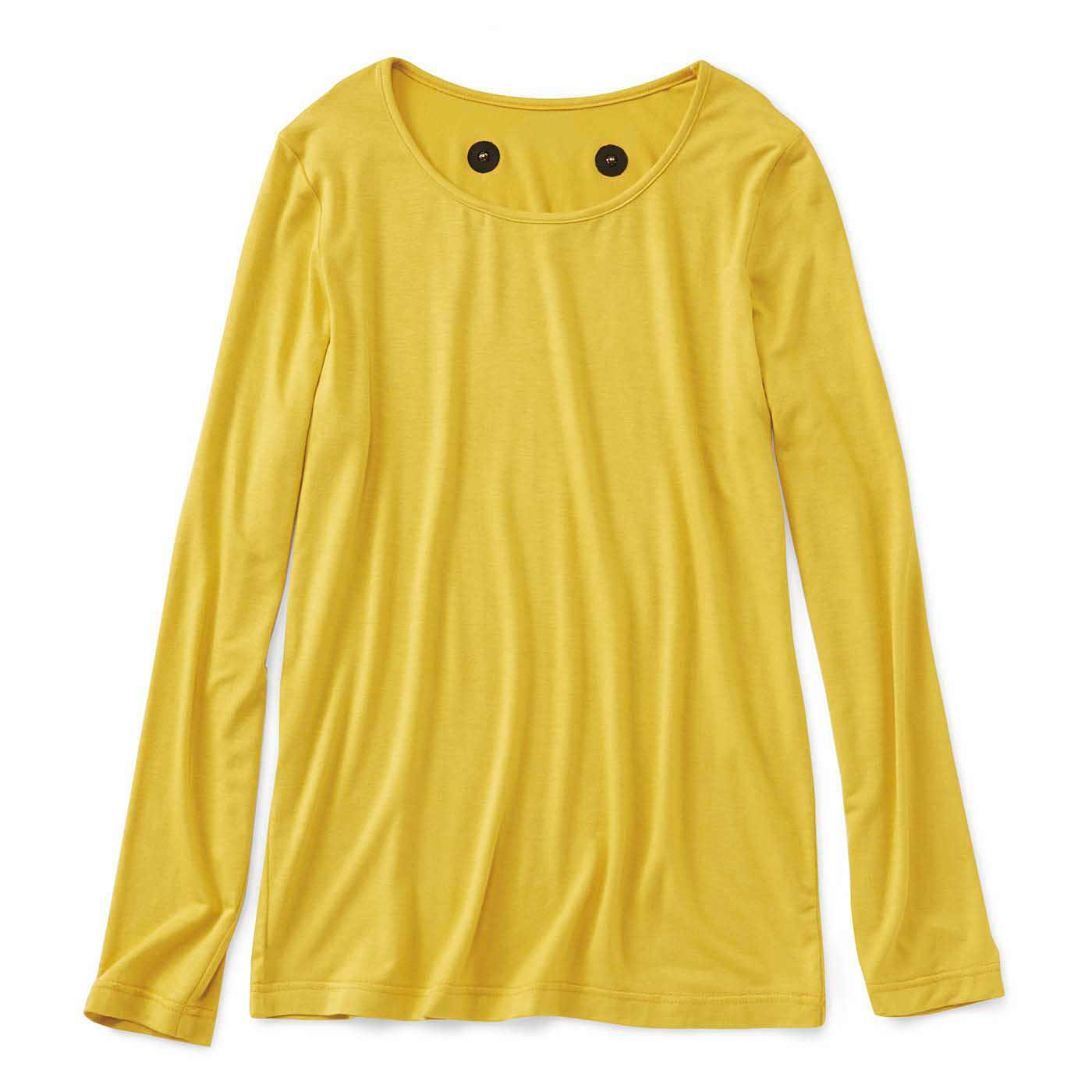 フェリシモ じんわりコリほぐし 肩こりさんのための磁気長袖トップス〈マスタード〉
