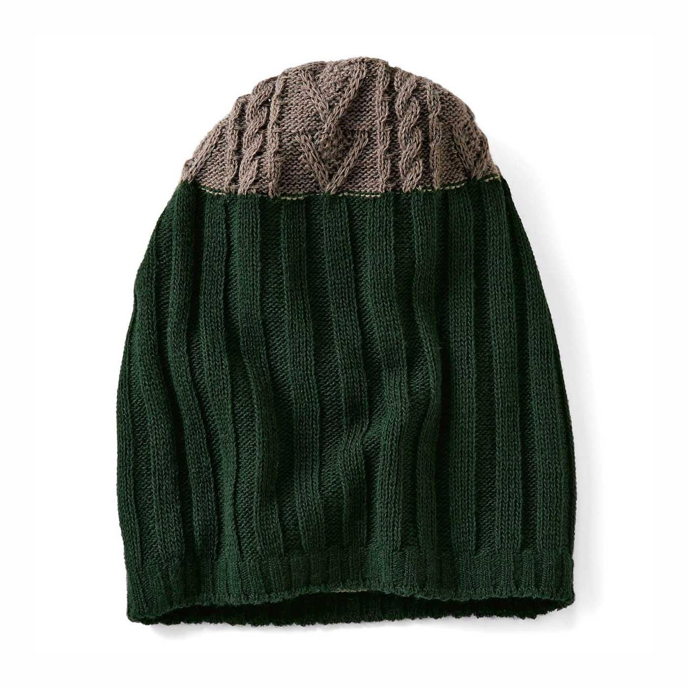 【リブ編みニットキャップ】アクセントカラーで秋冬おしゃれのスパイスにぴったり。