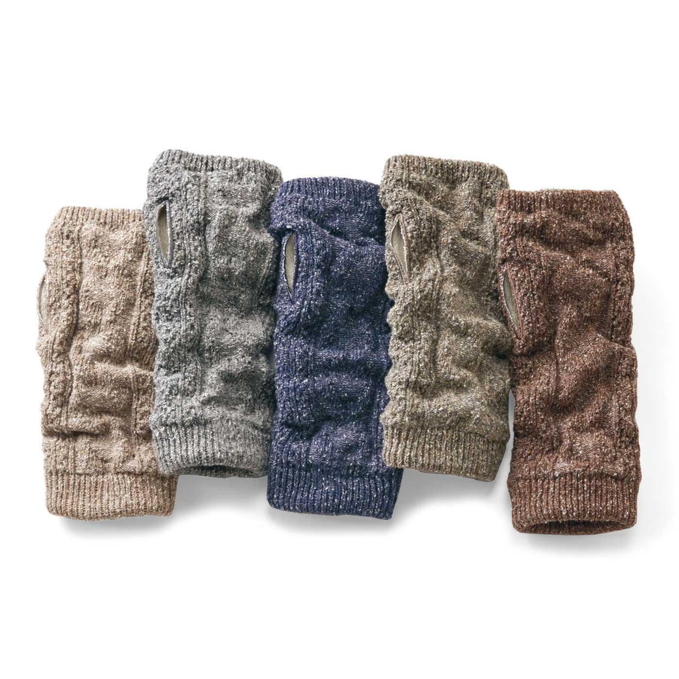 編み上がり後の自然な状態を生かして、くしゅっとなじみのよい風合いに。
