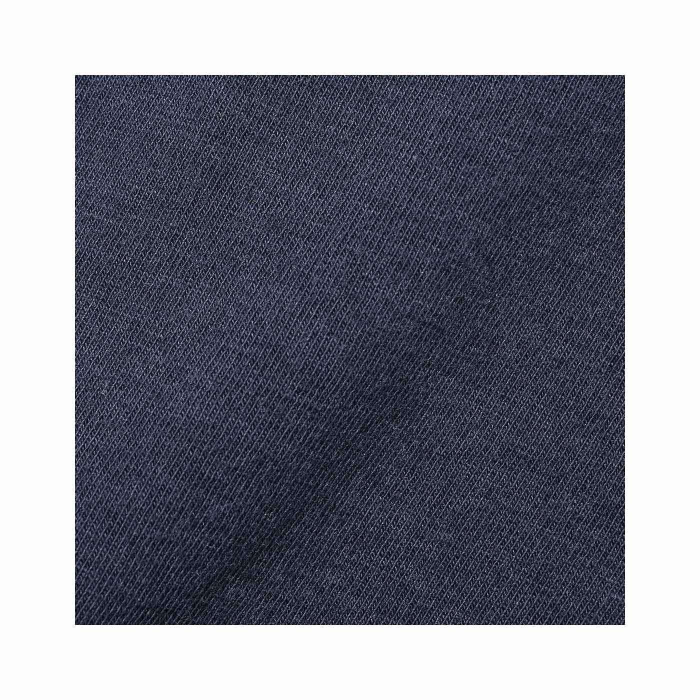 オールシーズン心地よい、綿混素材。