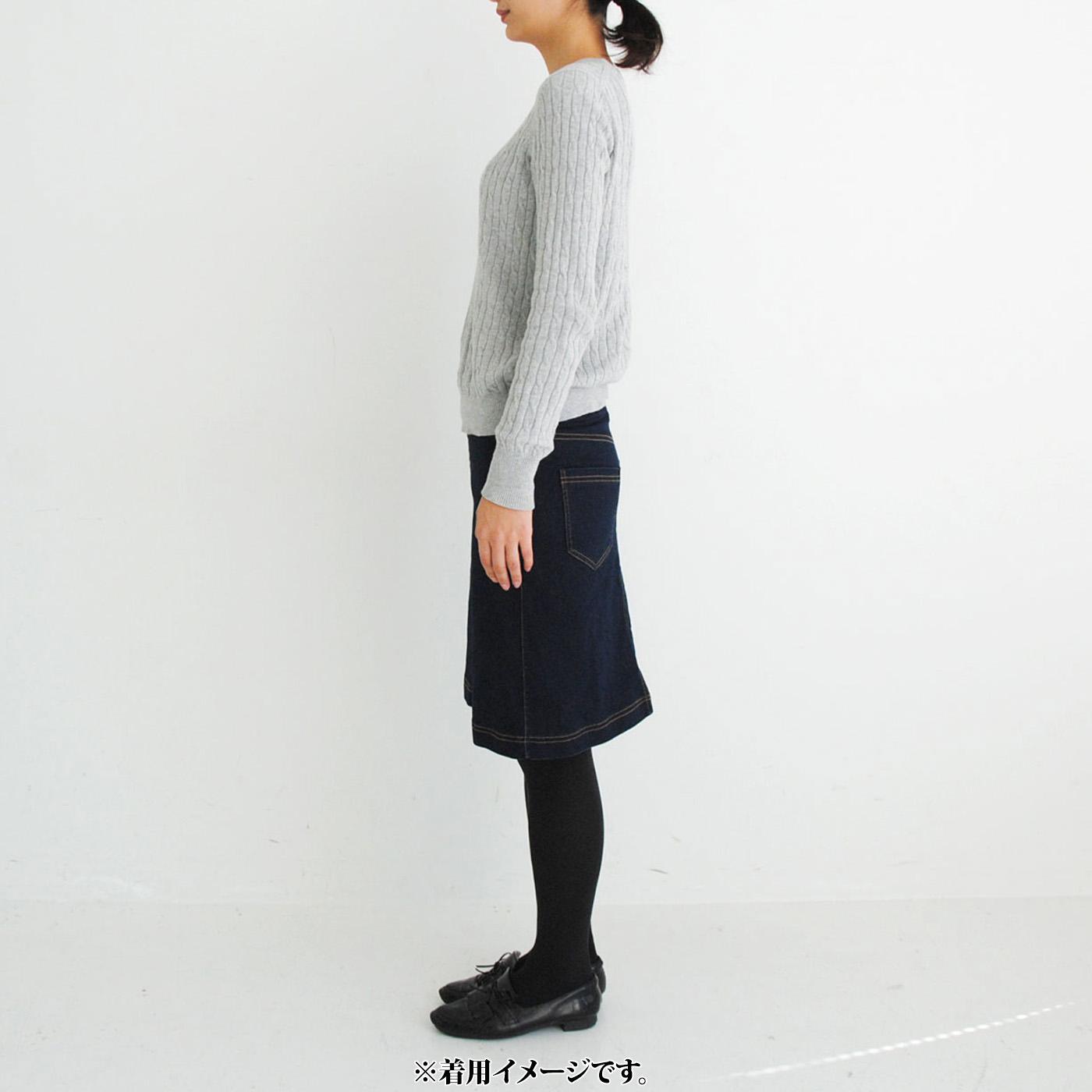 モデル身長約168cm 着用サイズM 広がりすぎないシルエットでサイドもすっきり。