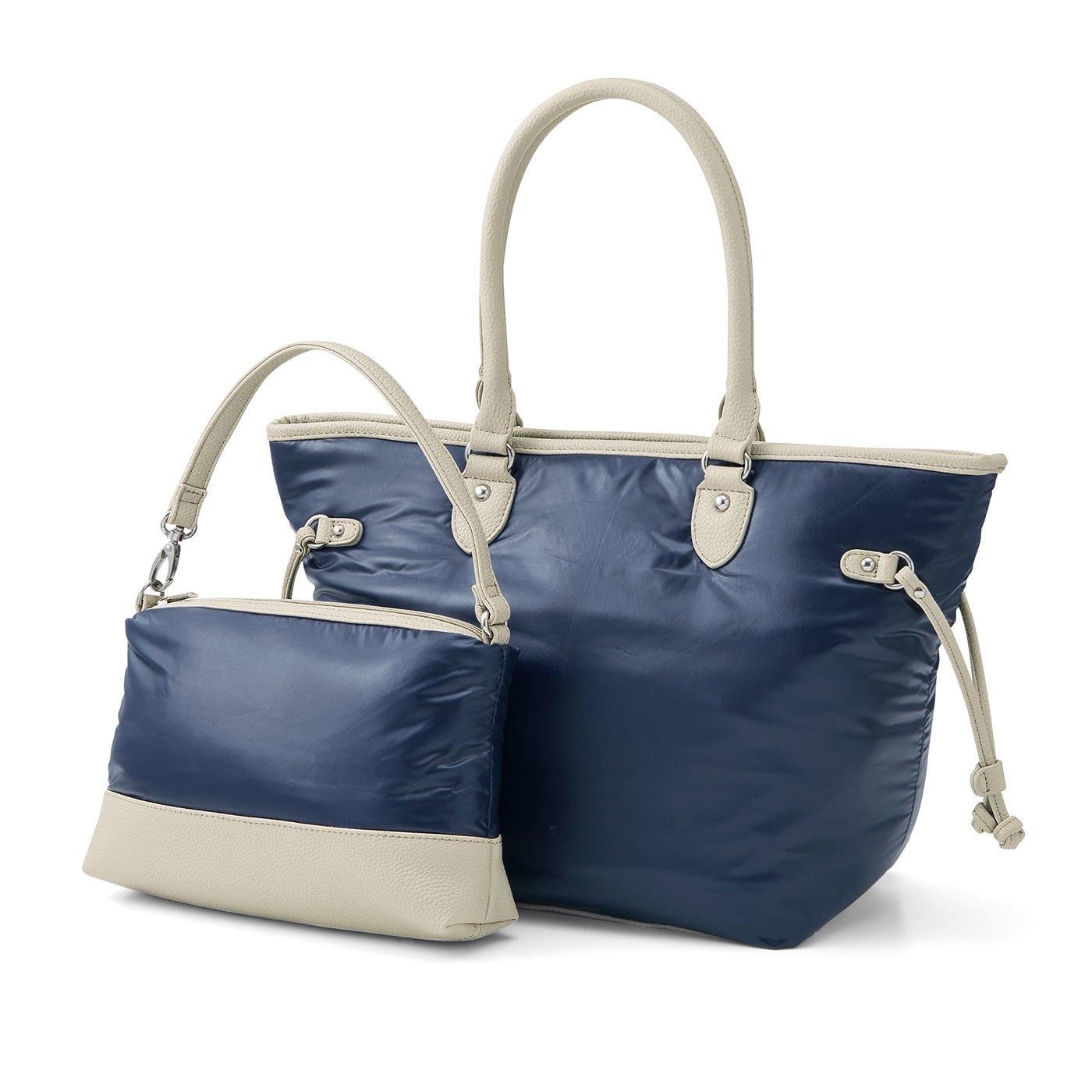 ミニバッグ付きだから使い方広がる 大人女子のためのすっきりトートバッグ