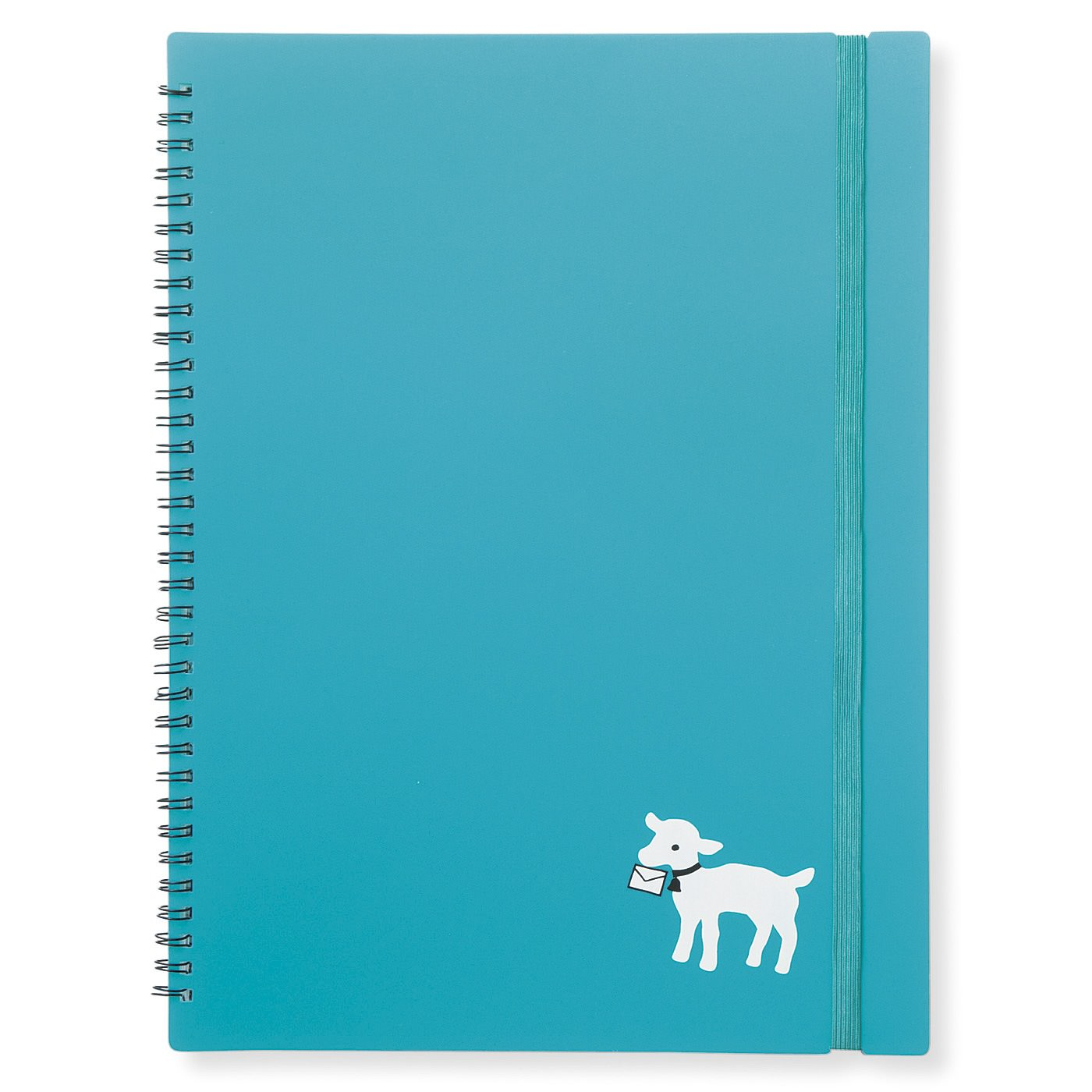 ササッとめくって探しやすいノート式。A4サイズがすっきり収まり、持ち歩きやすいよう、ばらけないゴム付き。中身が見えてしまいやすいクリアファイル式。