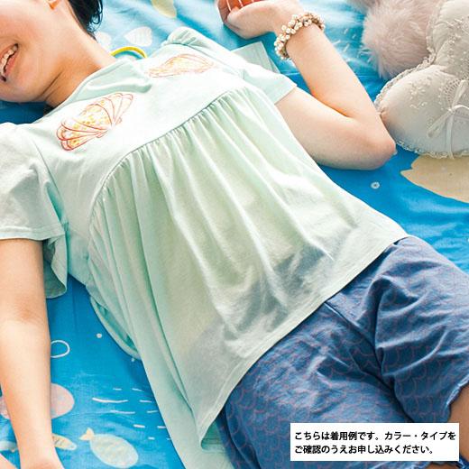 おうちで人魚姫気分 ゆらめく波をまとうショートパンツ(ブルー)