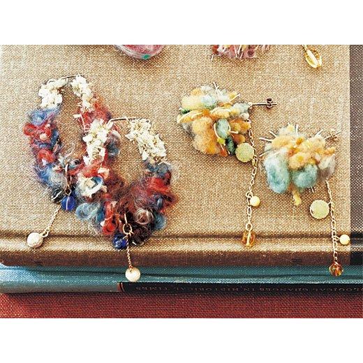 糸の魔法でときめく アヴリルの糸とチェコビーズで作る乙女ピアス