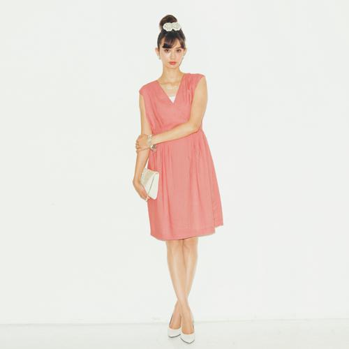 フェリシモ haco. 大人のためのシックドレスワンピース:スペシャルピンク