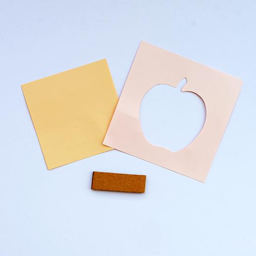 脳がめざめるお絵かきプログラム 色えんぴつ編用 紙セット7「Sweet Apple」