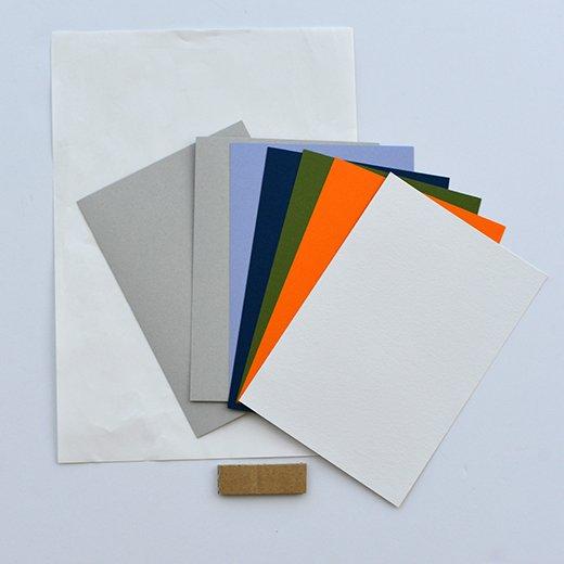 脳がめざめるお絵かきプログラム 色えんぴつ編用 紙セット8「フロッタージュ貼り絵」