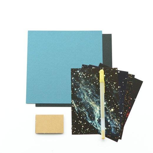 脳がめざめるお絵かきプログラム オイルパステル編用 画材セット9「きらめく星座宇宙」