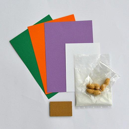 脳がめざめるお絵かきプログラム オイルパステル編用 画材セット12「殻つきからころピーナッツ」