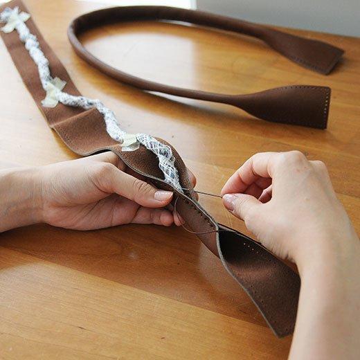 鞄作りレッスン 追加購入用 持ち手革パーツセット