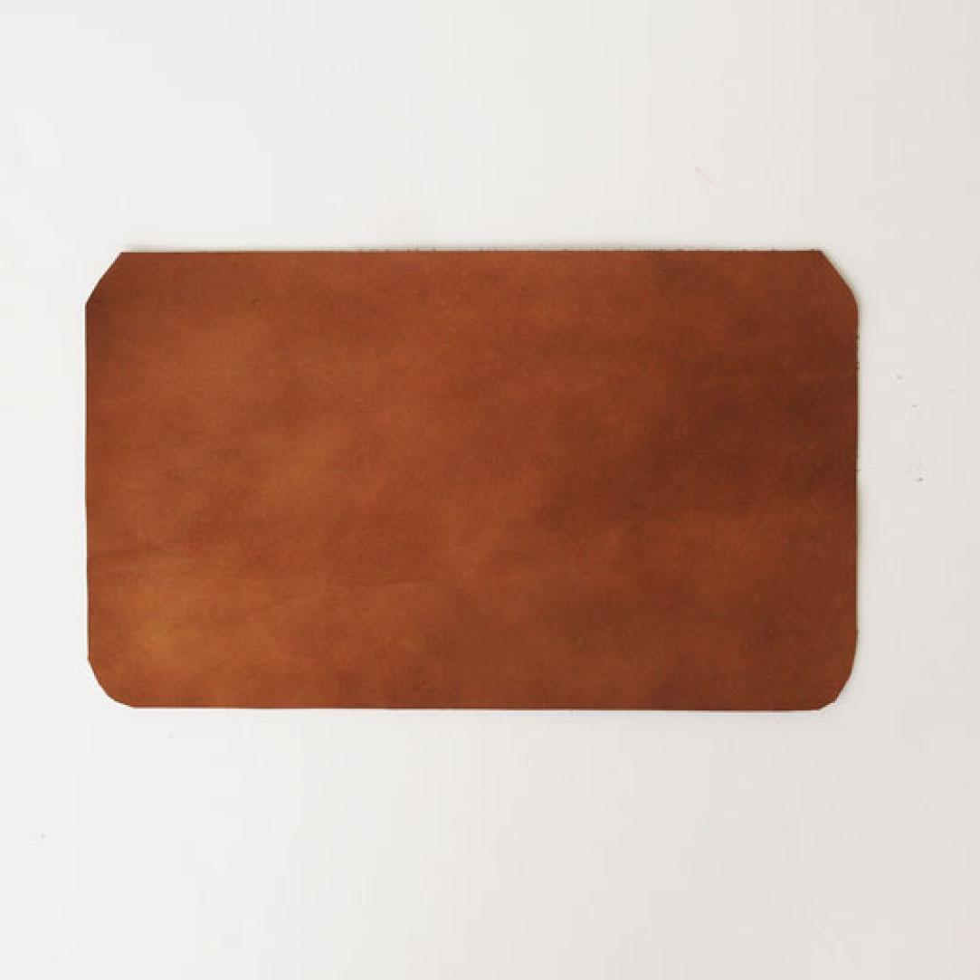 フェリシモ 鞄作りレッスン 追加購入用 フラップ革パーツ1枚