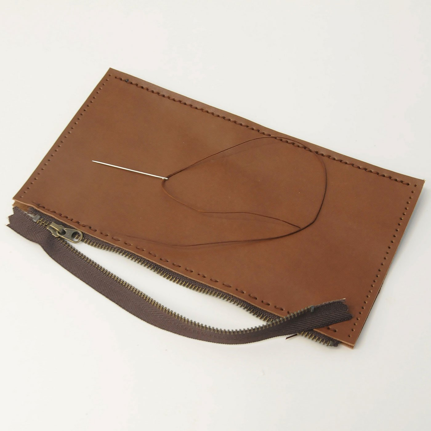 ウォレットショルダー作りレッスン 追加購入用 コインポケット革パーツ セット