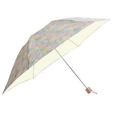 フェリシモ IEDIT[イディット] SELECT korko パステルモザイク模様の 晴雨兼用折りたたみ日傘〈ピンク〉【送料無料】