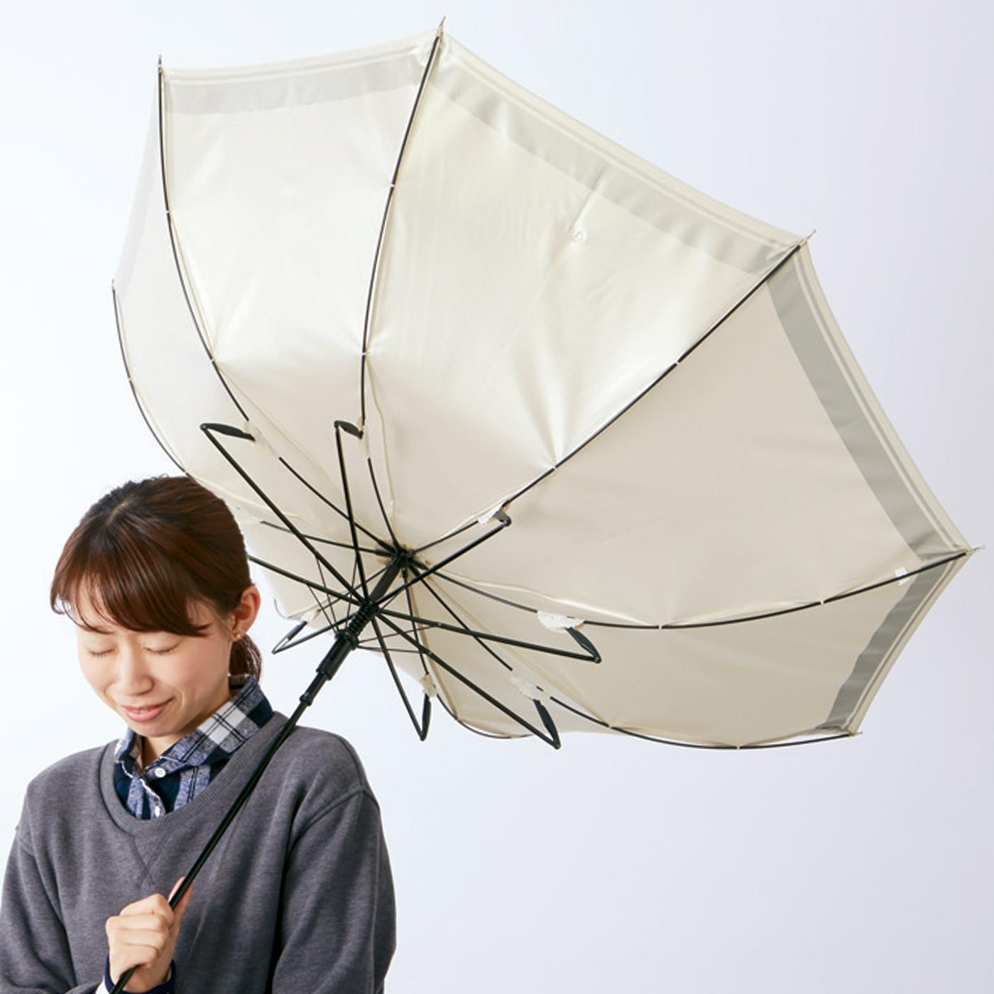 急な突風で傘がひっくり返っても